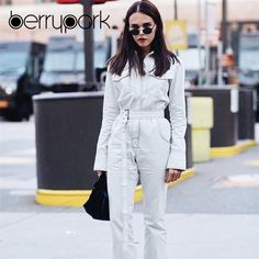 White Denim JumpsuitGirl we are obsessing over this jumpsuit. Featuring a denim material with a tie belt detail. Style this jumpsuit with some fresh kicks and your biggest hoops for a look that will steal all the stares. White Denim Jumpsuit, White Denim Jeans, Jeans Jumpsuit, Overalls, Pants, Long Jumpsuits, Jumpsuits For Women, Streetwear Fashion 2018, Denim Fashion
