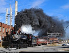 Tennessee Valley Railroad Steam at Rossville, Georgia south of Chattanooga