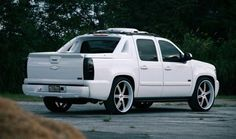 """Chevy Avalanche   Log on to http://tunecarstyle.com/2012-chevy-avalanche-accessories/ for your new accessories. And don't forget to use coupon """"MyAutoStore' for extra discount!   #cars #trucks #pickup #chevy #avalanche #white"""
