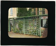 [Unidentified townhouse garden, probably in New York, New York. (LOC) by The Library of Congress, via Flickr