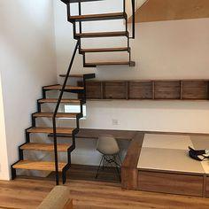 Village House Design, Village Houses, Asian Interior Design, Under Stairs, Cozy House, Stairways, Bookcase, Loft, Shelves