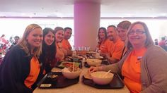 A few staff members enjoying lunch at the Baltimore Aquarium!