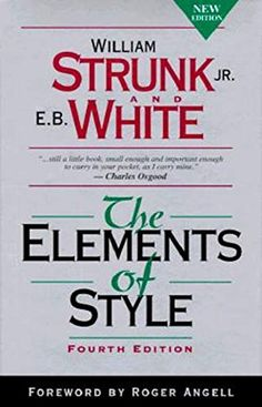 Shared via Kindle. Description: 'The Elements of Style' (1918), by William Strunk, Jr., is an American English writing style guide. It is the best-known, most influential prescriptive treatment of English grammar and usage, and often is required reading and...