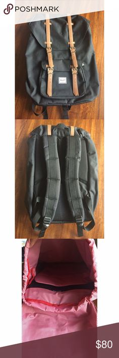 "NWOT Herschel Little America Backpack Brand new black Hershel backpack. Has a built in laptop sleeve. 16"" (H) x 10.75""(W) x 5""(D), 17L. No trades. Herschel Supply Company Bags Backpacks"