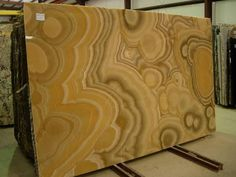 Honey Onyx slab for Atlanta, North Georgia, & South Carolina Slabco Marble & Granite has the very best granite slabs. Stone Quarry, Stone Slab, Marble Stones, Marble Slabs, Fireplace Feature Wall, Onyx Marble, Stone Supplier, Luxury Store, Stone Texture