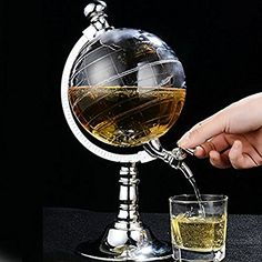 Amazon.com: Globe Style Liquor Decanter for Beer Mini Bar Accessories 52 OZ Liquid Drinking Separate Wine Tools Inverted Wine Rack Water Pump Dispenser Machine By OAKZIP: Kitchen & Dining