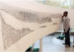 Stephen Wiltshire draws intricate skylines from memory (click through for more)