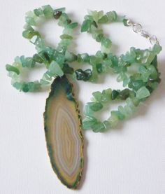 Aventurine Gemstone Necklace via Hippychick Creations. Click on the image to see more!