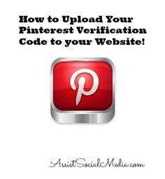Pinterest Verification Code to your Website