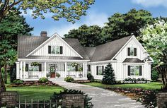 The Ashbry house plan 1506 is now in progress! 2187 sq ft, 3 beds, 2.5 baths. Check out the front rendering! #WeDesignDreams #DonGardnerArchitects