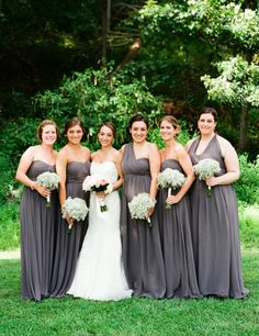 Smoky Blue Jenny Yoo Bridesmaids | photography by http://www.lindsaymaddenphotography.com
