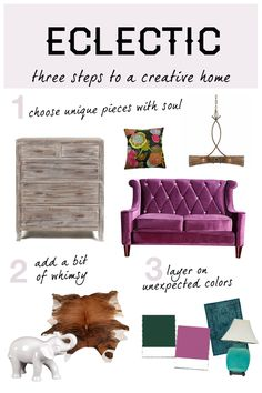 Eclectic home decor is all about expressing yourself with color and texture. Follow these three tips and find everything you need on Overstock to create an artful space.