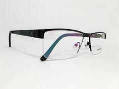 Óculos Grande ArmaçãoMetal Masculino Tamanho 57 Preto