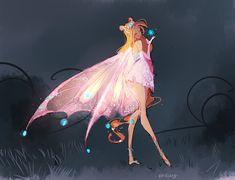 Flora Dessin Animé Lolirock, Character Art, Character Design, Les Winx, Flora Winx, Bloom Winx Club, Magical Girl, Mythical Creatures, Cartoon Art