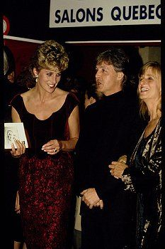 Princess Diana in Paris w/ Paul & Linda - what a beautiful group of people  inside & out!