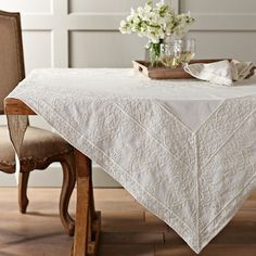 Moroccan Embroidered Throw #WilliamsSonoma. at first glance, simple and clean, upon closer inspection... quite detailed. its all about the details....