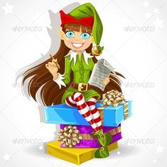 Girl Elf Ready to Record Wishes