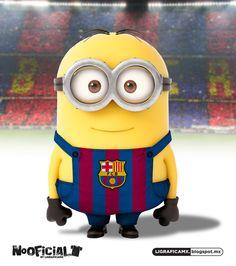 Soccer minion Barcelona