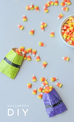Make This: Festive DIY Halloween Treat Bags - Paper & Stitch