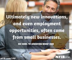 NFIB offers Young Entrepreneur Awards to enterprising students: scholarships worth $1,000 - $15,000 through the Young Entrepreneur Foundation. Apply now at nfib.com/yef. Deadline to apply is 12/18/14.