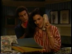 Wortham Krimmer (as Andrew), Laura Koffman (as Cassie) | One Life to Live (July 28, 1994) | Tags: The Rich and the Filthy, The Spoonatics