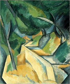 Georges Braque - La Route de L'Estaque, late summer 1908