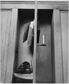 Telephone, Winterthur Museum. From a 1951 series by photographer André Kertész for Vogue and House & Garden magazines, prior to the house being opened as a museum.