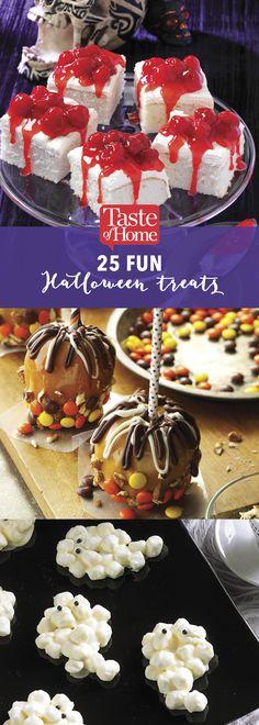 25 Fun Halloween Treats (from Taste of Home)