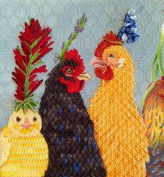 Party in the coop Progress close up