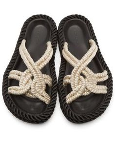 Ecru Popeye Rope Sandals