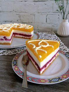 Pfirsch-Himbeer-Torte ohne Backen | Tortentine