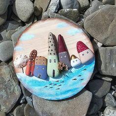 Pebble Painting, Pebble Art, Stone Painting, Diy Painting, Pebble Pictures, Stone Pictures, Stone Crafts, Rock Crafts, Pebble Stone