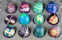 Easy Pysanky How-To (AKA Epic Easter Eggs!).....now my kids are older, these will be part of our Easter tradition...my fam is not Ukrainian but I did these projects growing up in Manitoba.