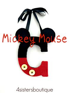 Mickey or Minnie Monogram Letter