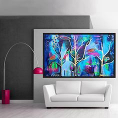 Dancing of the Trees, original acrylic painting by Diana Dellos Designs Glass Wall Art, Canvas Wall Art, Expressive Art, Unique Wall Art, Aboriginal Art, Texture Art, Tag Art, Body Painting, Art Decor