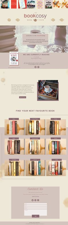 The BookCosy Book Club – Brand & Website Reveal Website Layout, Website Ideas, Website Design Inspiration, Web Design, Neutral Colour Palette, Book Club Books, Design Web, Web Layout, Website Designs