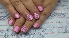 #nails #nailart #pinknails #minimalnails #handmadenailart #beautymakesyouhappy