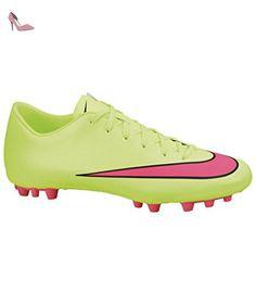 NIKE Mercurial Victory V AG de r Chaussures de Football Neon/Rose/Noir -