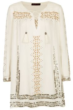 Pretty white shirt dress by Kate Moss for Topshop