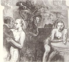 """Alberto Sughi. -    Sughi è uno dei protagonisti di un'area pittorica figurativa per la quale si è più volte parlato di realismo esistenziale"""". La sua ricerca procede, in modo quasi costante, per cicli tematici, che hanno il sapore della sequenza cinematografica. Prima le cosiddette """"Pitture verdi"""", poi, il ciclo """"La cena"""".  Agli inizi degli anni ''80  i venti dipinti e i quindici studi di """"Immaginazione e memoria della famiglia""""; …"""