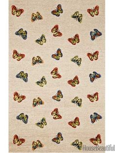 Liora Manne Grace Natural Butterfly Print Outdoor Rug x (Grace Outdoor Rug - Black, Size x (Polyester, Animal) Modern Area Rugs, Contemporary Area Rugs, Contemporary Design, Kitchen Area Rugs, Washable Area Rugs, Neutral Carpet, Room Rugs, Child's Room, Discount Rugs