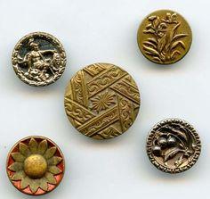 Paris back antique brass buttons