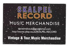 Danny at Skalpel Record..A supplier of a few of my badges....