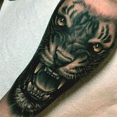 Inside forearm tat for Derik. 3d tiger face tattoo designs on forearm???