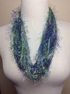 Blue+Trellis/Eyelash+Yarn+Necklace+Necklace+by+DragonflyDenim