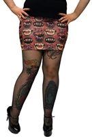 Kreepsville - Monster Mouth Red Mini Skirt