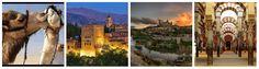 Al-Andalus, Toledo, Córdoba, Granada, historias mágicas, leyendas, misterios, belleza, sensualidad.... y de un salto la magia de destinos hospitalarios y seguros como Jordania.