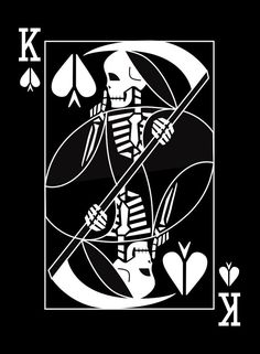 Apocalyptic Suits playing cards for the End of the World - Kickstarter. King of Death (work in progress) - card game, card games, poker playing cards, deck of cards, card deck, unique playing cards, art of play cards, design play cards, cool playing cards, cardistry, jugando a las cartas, karty do gry, игральные карты, карты #PlayingCards