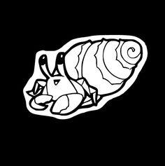 Kawaii Sea Creatures: Cute Happy Chibi Big Hermit Crab Vinyl Car Window Aquatic Life Decal Stickers by SparkleFartsandArt on Etsy https://www.etsy.com/listing/485823774/kawaii-sea-creatures-cute-happy-chibi