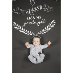 This adorable portrait features our Always Kiss Me Goodnight printed backdrop! Always Kiss Me Goodnight, Photographing Kids, Photography Props, Good Night, Backdrops, Portrait, Printed, Nighty Night, Photographing Boys
